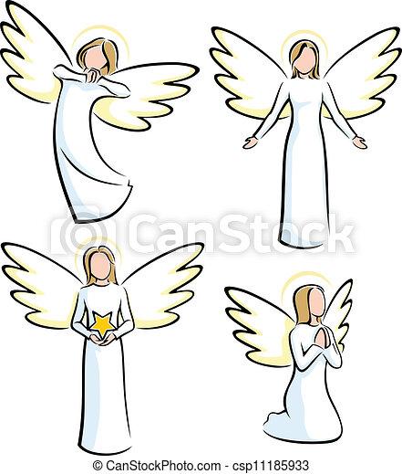 Angel Clip Art Image  RoyaltyFree Vector Clipart Images
