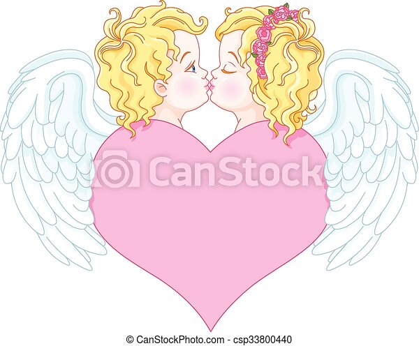 Angels in Love - csp33800440