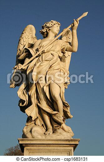 Angels on the Sant'Angelo bridge - csp1683131