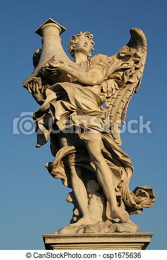 Angels on the Sant'Angelo bridge - csp1675636
