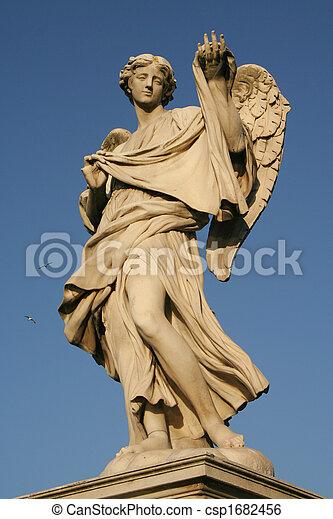 Angels on the Sant'Angelo bridge - csp1682456