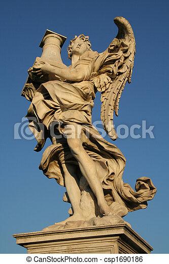 Angels on the Sant'Angelo bridge - csp1690186