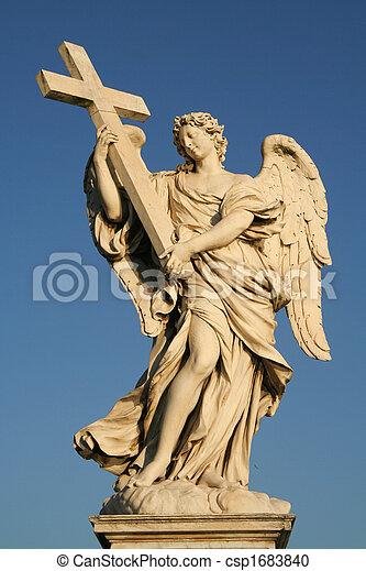 Angels on the Sant'Angelo bridge - csp1683840