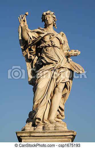 Angels on the Sant'Angelo bridge - csp1675193