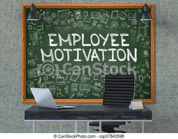 Angestellter Buro Motivation Tafel Abbildung Graue
