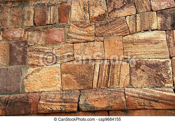 Angezogene , stein, muster. Schöne , struktur, angezogene ...