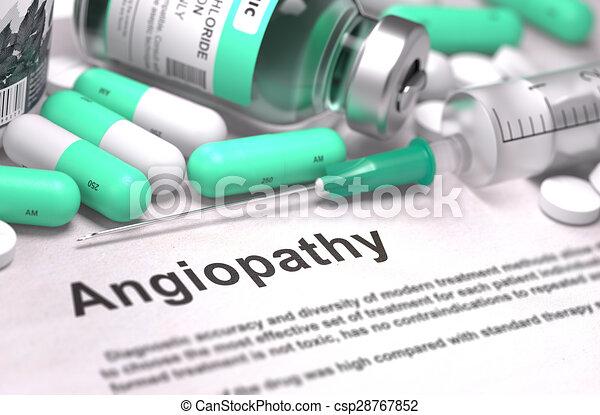 Angiopathie-Diagnose. Medizinisches Konzept. - csp28767852