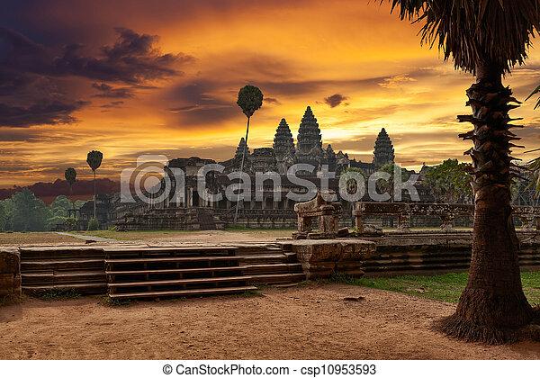 Angkor Wat at sunset - csp10953593