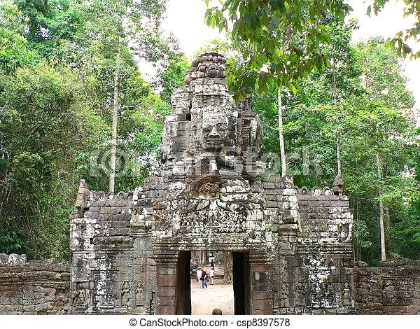 Angkor wat, Cambodia.  - csp8397578
