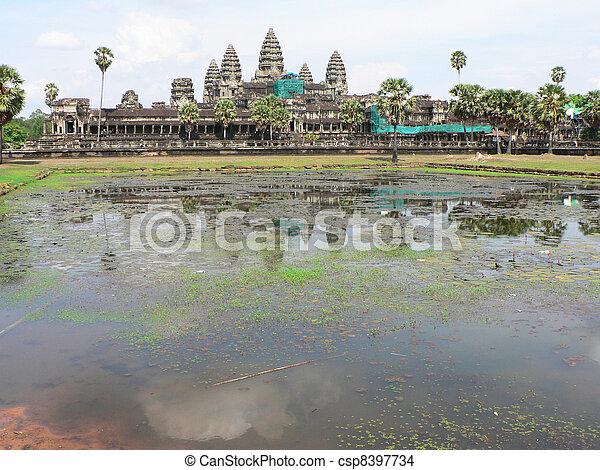 Angkor wat, Cambodia.  - csp8397734
