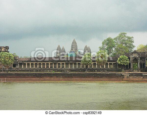 Angkor wat, Cambodia.  - csp8392149