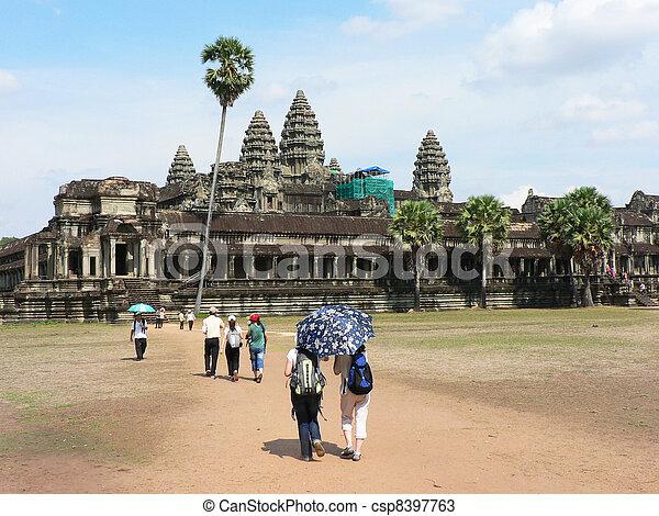 Angkor wat, Cambodia.  - csp8397763
