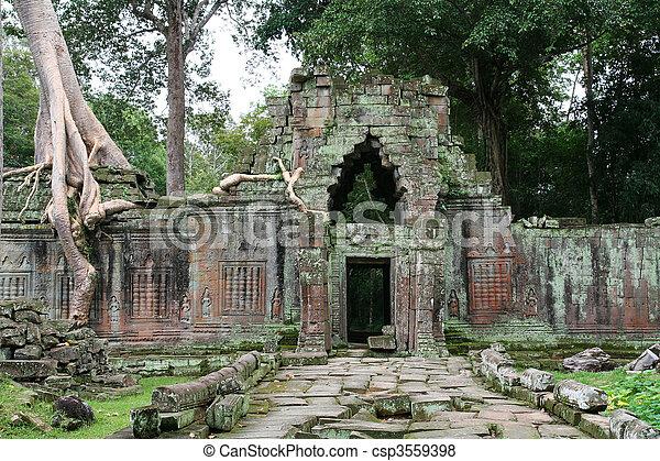 Angkor Wat ruins - csp3559398