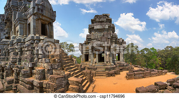 Angkor Wat -Ta Keo temple Cambodia - csp11794696