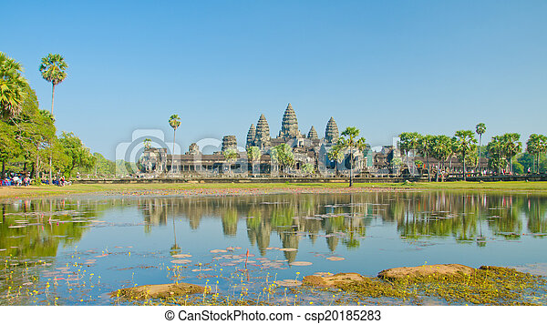 Angkor Wat Temple, Siem reap, Cambodia.  - csp20185283