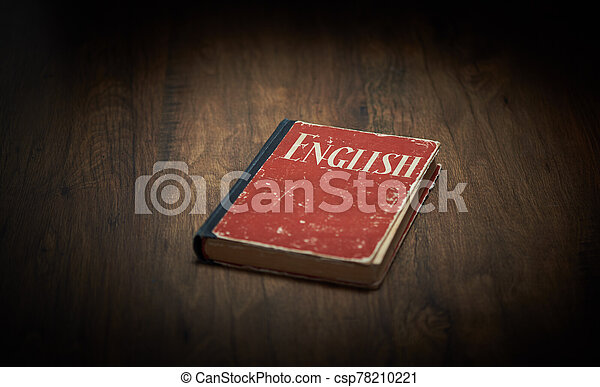 anglaise, bois, manuel, table, rouges - csp78210221