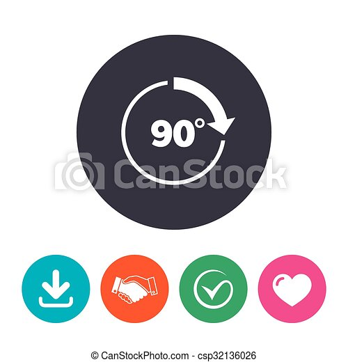Angle 90 Degrees Sign Icon Geometry Math Symbol Right Vector