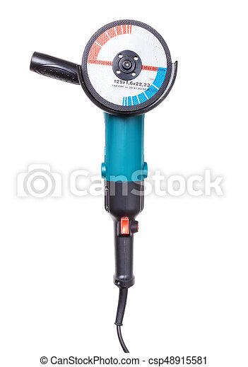 Angle grinder isolated on white background. - csp48915581