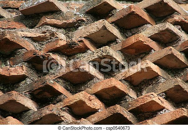 Angled brick wall - csp0540673