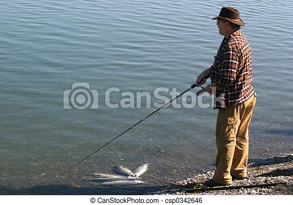 Angler and Fish - csp0342646