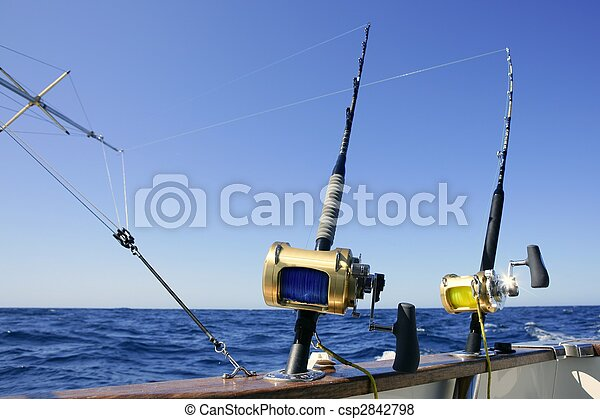 Angler boat big game fishing in saltwater - csp2842798