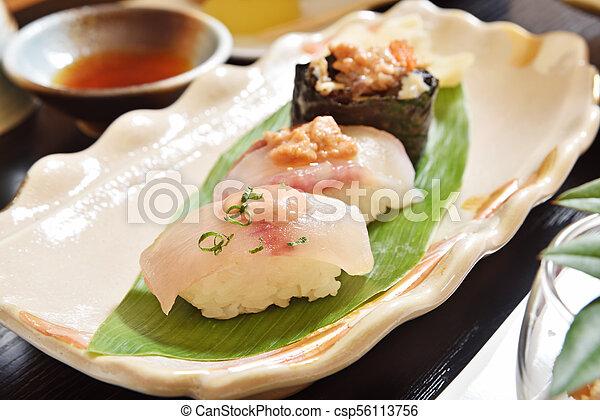 Angler fish sushi - csp56113756