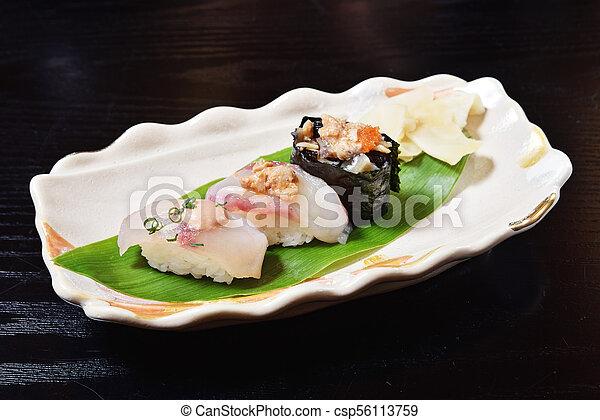 Angler fish sushi - csp56113759
