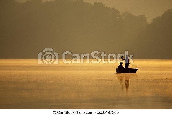 Anglers Fishing - csp0497365