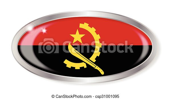 Angola Flag Oval Button - csp31001095