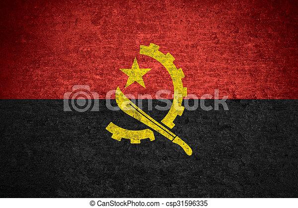 Angola flag - csp31596335