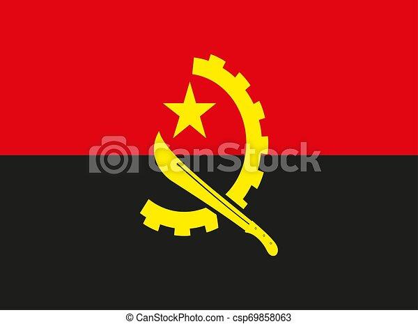 Angola flag vector illustration EPS10 - csp69858063