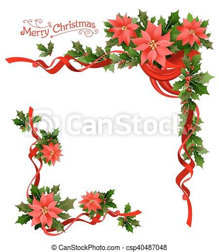 Disegni Di Natale Vettoriali.Angolo Natale Stella Di Natale