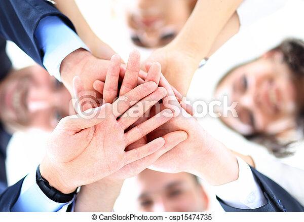 angolo, persone affari, basso, capannello, vista., mani, accoppiamento - csp15474735