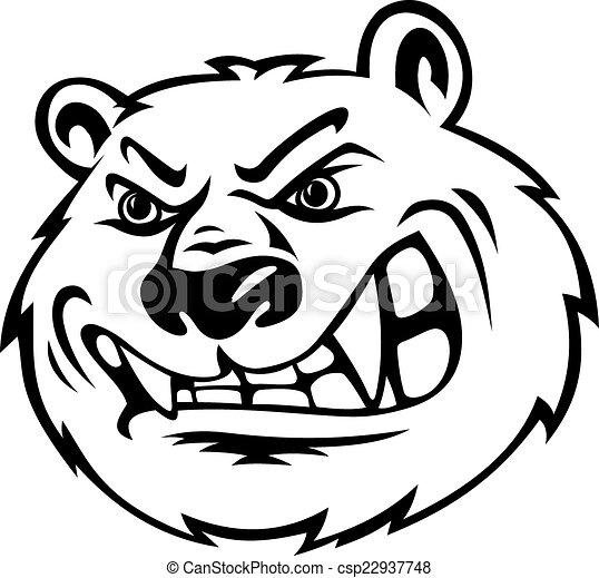 Angry bear - csp22937748