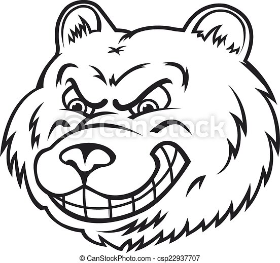 angry bear in cartoon style isolated on white background vector rh canstockphoto com bear vector illustration bear vector illustration