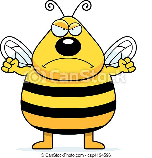 angry bee a cartoon bee frowning and looking angry clip art rh canstockphoto com frown clipart frown mouth clipart