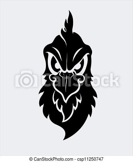 Angry Bird Mascot Vector Character - csp11250747