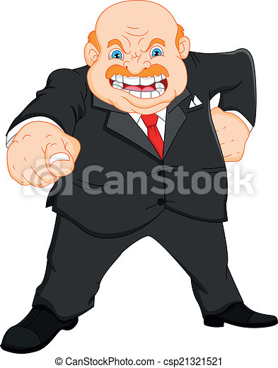 angry boss (businessman) - csp21321521