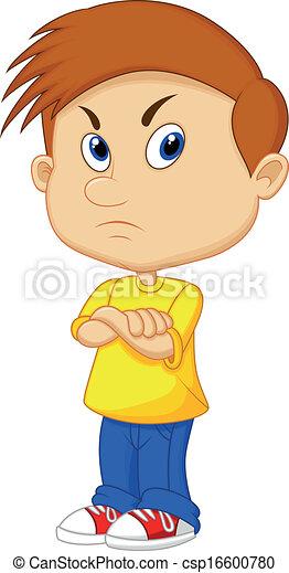 Angry boy cartoon - csp16600780