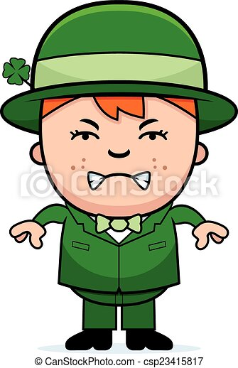 angry boy leprechaun a cartoon illustration of a boy vector clip rh canstockphoto com leprechaun clipart animated leprechaun clipart black and white