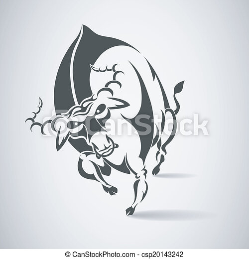 angry bull vector - csp20143242