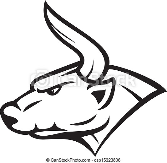 Angry bull - vector illustration - csp15323806