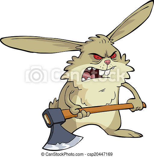 Angry bunny - csp20447169