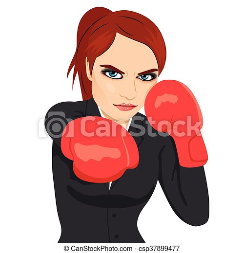Female boxer gets mad and spank the reporters 4