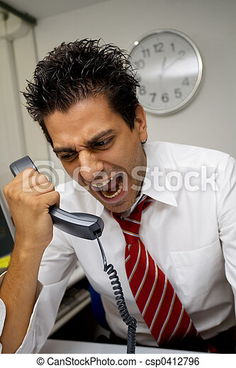 angry businessman - csp0412796