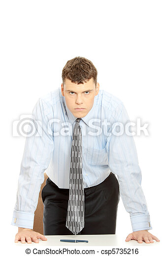 Angry businessman - csp5735216