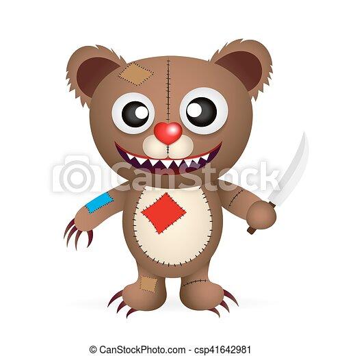 angry cartoon bear - csp41642981