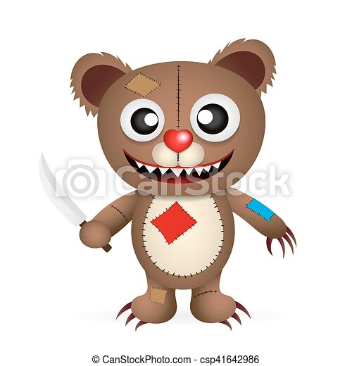angry cartoon bear - csp41642986