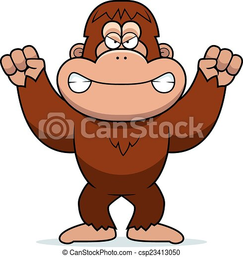 angry cartoon bigfoot a cartoon illustration of an angry clipart rh canstockphoto com bigfoot footprint clipart bigfoot clipart pictures