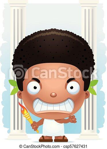 Angry Cartoon Boy Olympian - csp57627431